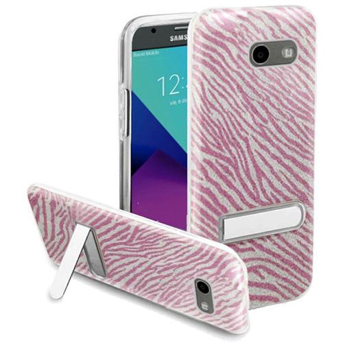 Insten Zebra Hard Case For Samsung Galaxy Amp Prime 2/Express Prime 2/J3 (2017)/J3 Eclipse, Hot Pink