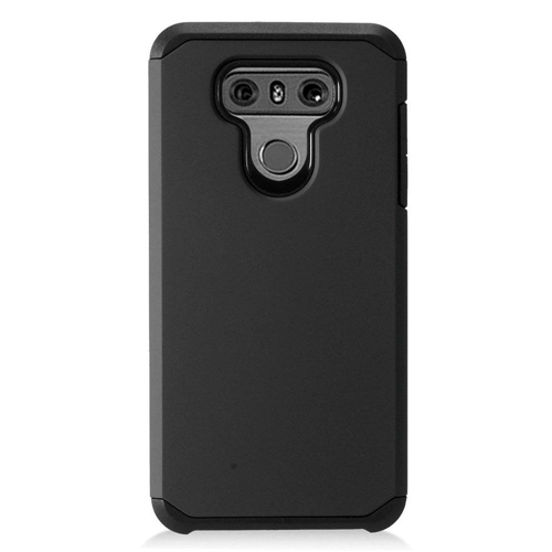 Insten Hard Dual Layer Plastic Case For LG G6, Black