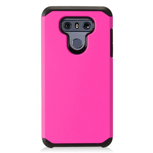 Insten Hard Hybrid Plastic Case For LG G6, Hot Pink