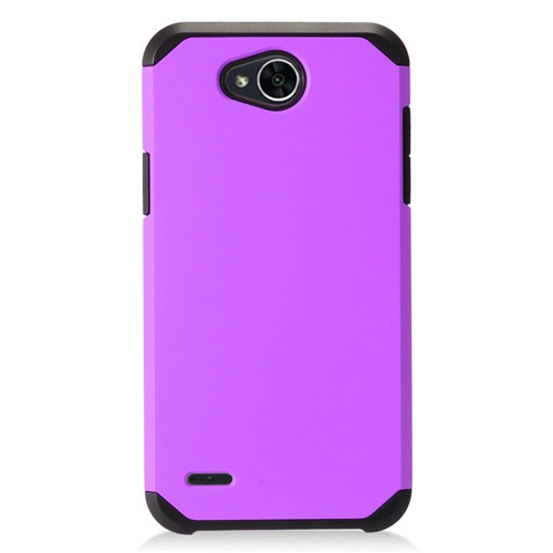 Insten Hard Dual Layer Plastic Case For LG X Power 2, Purple