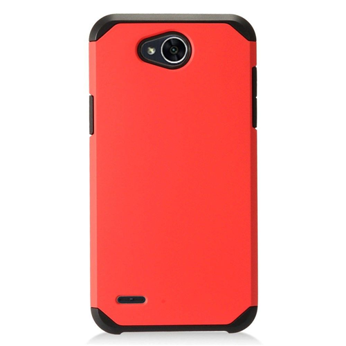 Insten Hard Dual Layer Plastic Cover Case For LG X Power 2, Red