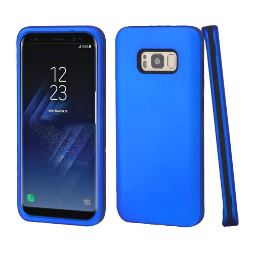 Insten Fitted Soft Shell Case for Samsung Galaxy S8 Plus - Black;Blue