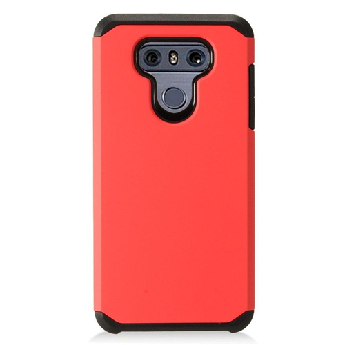 Insten Hard Dual Layer Plastic Cover Case For LG G6, Red