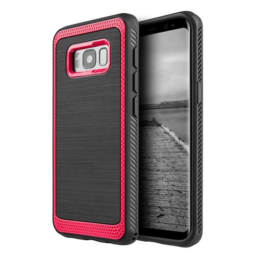 Insten Hard Hybrid Plastic TPU Case For Samsung Galaxy S8 Plus, Red