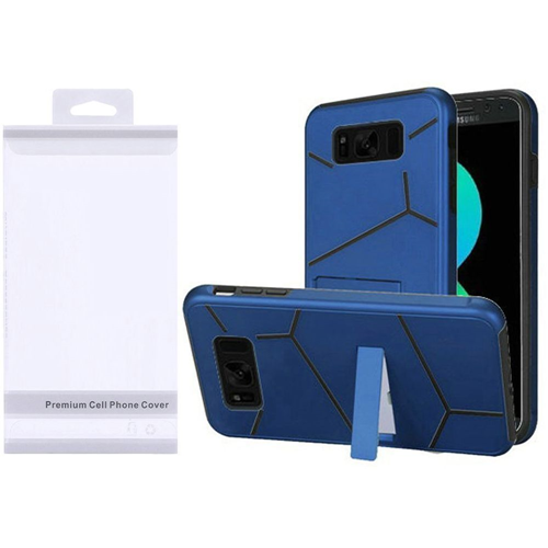 Insten Hard Hybrid Plastic TPU Cover Case w/stand For Samsung Galaxy S8 Plus, Blue/Black