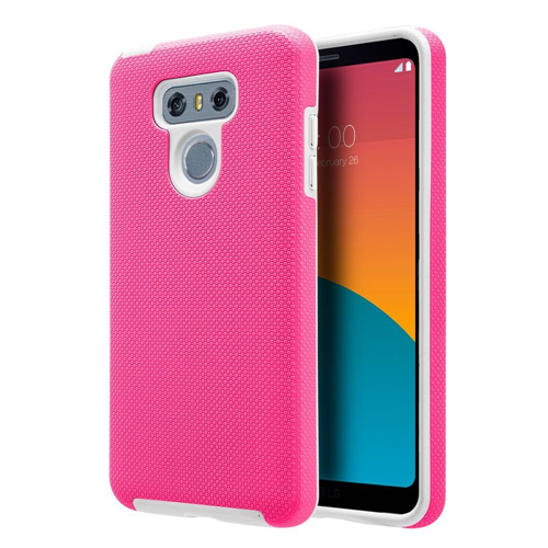 Insten Hard Hybrid Plastic TPU Case For LG G6, Hot Pink