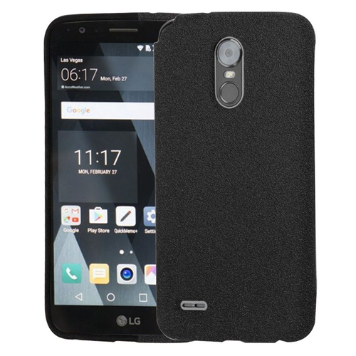 Insten Frosted Spot Rubber Case For LG Stylo 3/Stylo 3 Plus, Black