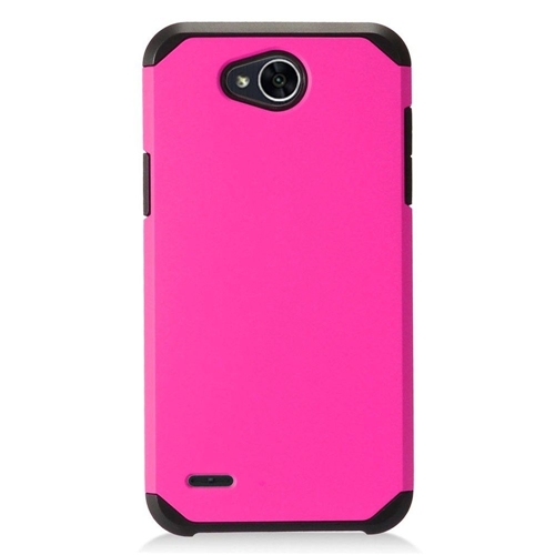 Insten Hard Hybrid Plastic Cover Case For LG X Power 2, Hot Pink