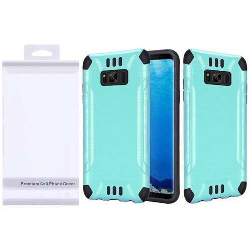 Insten Slim Armor Hard Dual Layer Brushed TPU Case For Samsung Galaxy S8, Teal/Black