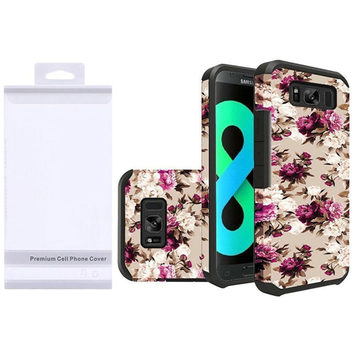 Insten Roses Hard Dual Layer Rubber Cover Case For Samsung Galaxy S8 Plus, Multi-Color