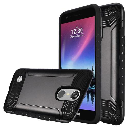 Insten Slim Armor Hard Dual Layer Plastic TPU Case For LG Grace 4G/Harmony/K20 Plus/K20 V, Black