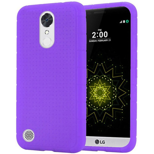 Insten Rugged Soft Rubber Case For LG Grace 4G/Harmony/K20 Plus/K20 V, Purple