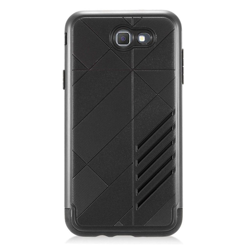 Insten Hard Hybrid Plastic TPU Cover Case For Samsung Galaxy J7 (2017), Black