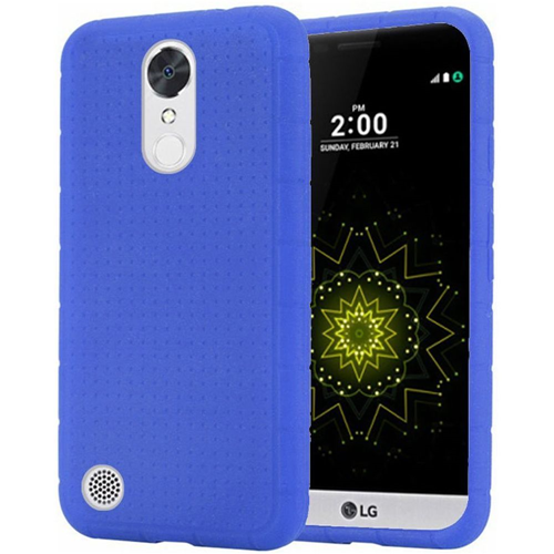 Insten Rugged Rubber Cover Case For LG Grace 4G/Harmony/K20 Plus/K20 V, Blue