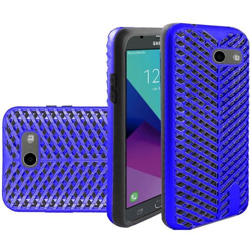Insten ZigZag Hard Case For Samsung Galaxy Amp Prime 2/Express Prime 2/J3 (2017)/J3 Eclipse, Blue