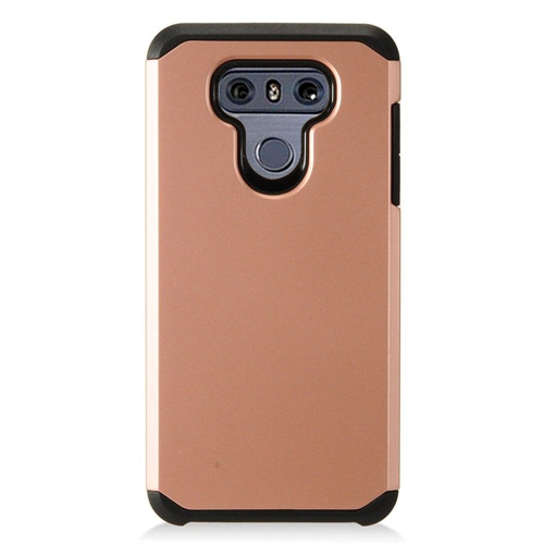 Insten Hard Hybrid Plastic Case For LG G6, Rose Gold
