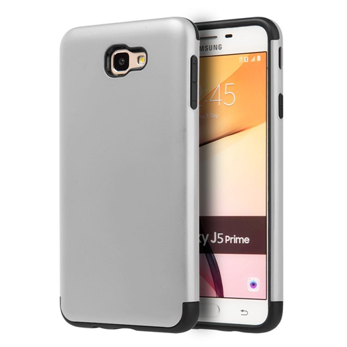 Insten Hard Hybrid Plastic TPU Cover Case For Samsung Galaxy J5 Prime/On5 (2016), Silver