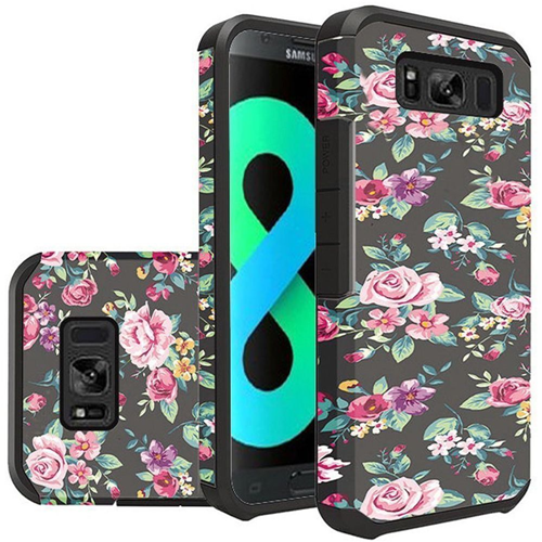Insten Tropical Flowers Hard Hybrid Plastic TPU Case For Samsung Galaxy S8 Plus, Multi-Color