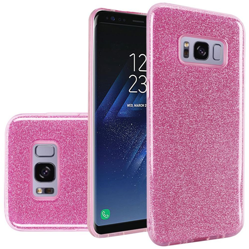 Insten Hard Glitter TPU Cover Case For Samsung Galaxy S8, Pink
