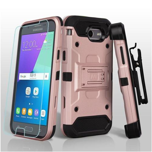 Insten Hard Case For Samsung Galaxy Amp Prime 2/J3 (2017)/J3 Emerge/J3 Prime, Rose Gold