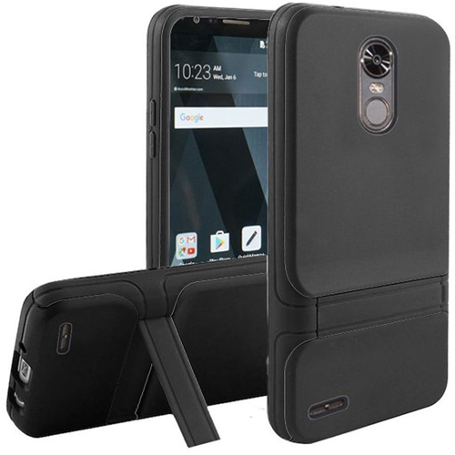 Insten Hard Hybrid Plastic TPU Cover Case w/stand For LG Stylo 3/Stylo 3 Plus, Black
