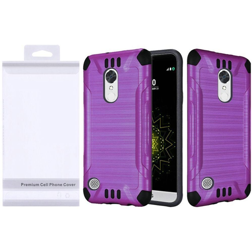 Insten Slim Armor Hard Brushed TPU Case For LG Grace 4G/Harmony/K20 Plus/K20 V, Purple/Black