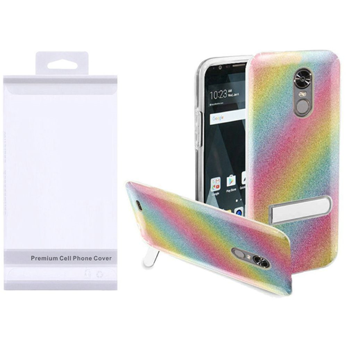Insten Rainbow Hard Plastic TPU Case w/stand For LG Stylo 3/Stylo 3 Plus, Colorful