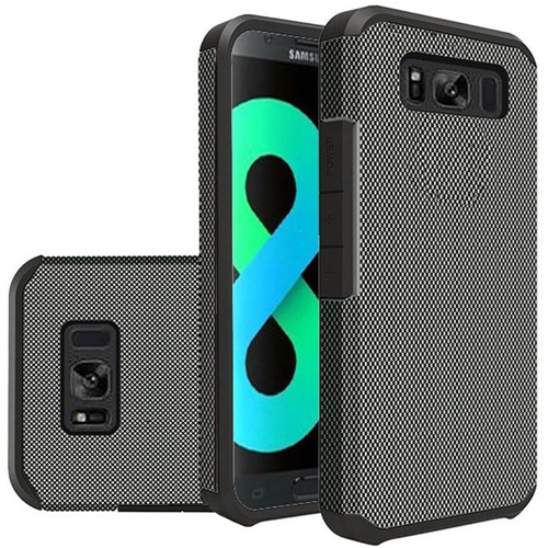Insten Carbon Fiber Hard Hybrid Plastic TPU Case For Samsung Galaxy S8 Plus, Black