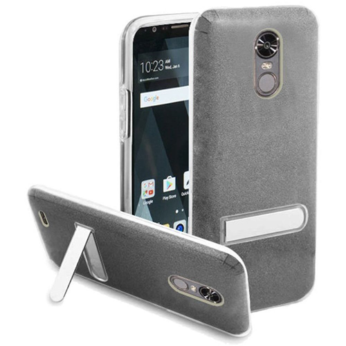 Insten Hard Plastic TPU Case w/stand For LG Stylo 3/Stylo 3 Plus, Smoke/Clear