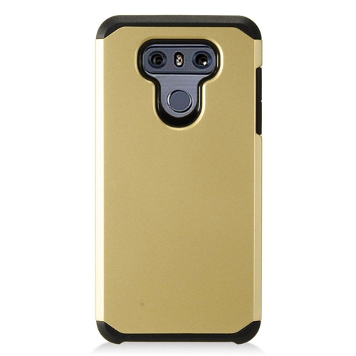 Insten Hard Dual Layer Plastic Case For LG G6, Gold