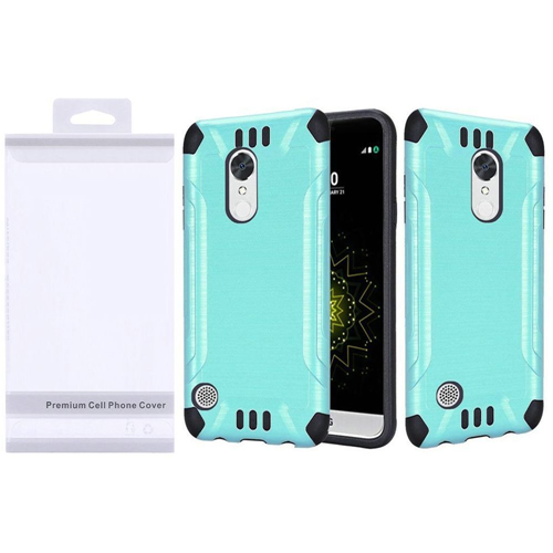 Insten Slim Armor Hard Hybrid Brushed TPU Case For LG Grace 4G/Harmony/K20 Plus/K20 V, Teal/Black