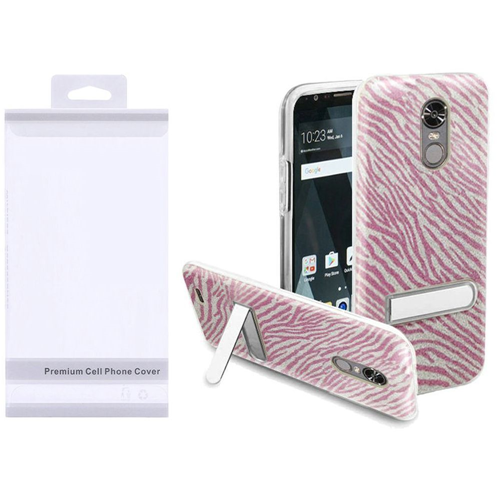 Insten Zebra Hard Plastic TPU Case w/stand For LG Stylo 3/Stylo 3 Plus, Hot Pink