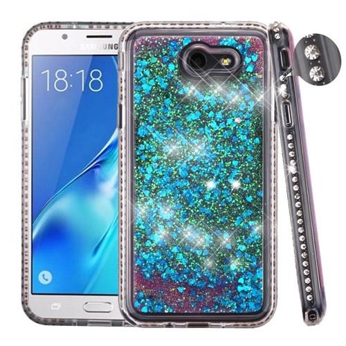 Insten Quicksand Hard Hybrid Diamond Case For Samsung Galaxy J7 (2017)/J7 Prime/J7 Sky Pro, Blue