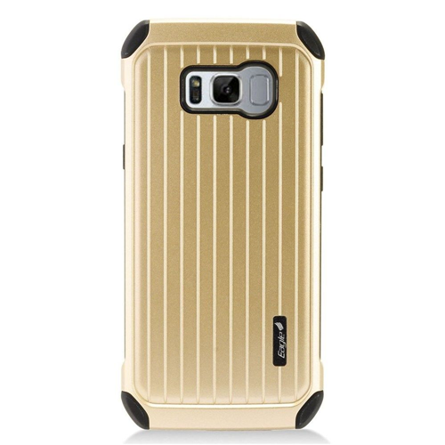 Insten Carry On Hard Dual Layer Plastic Cover Case For Samsung Galaxy S8, Gold/Black