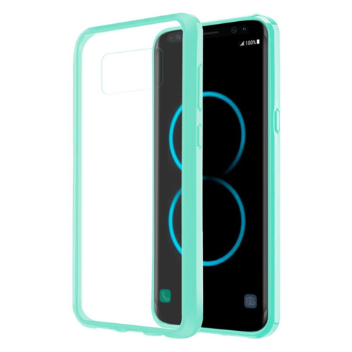 Insten Fusion Candy Acrylic Plastic TPU Cover Case For Samsung Galaxy S8 Plus, Clear/Teal