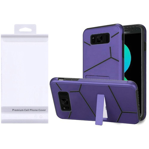 Insten Hard Hybrid Plastic TPU Case w/stand For Samsung Galaxy S8 Plus, Purple/Black
