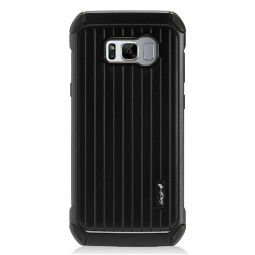 Insten Carry On Hard Dual Layer Plastic Case For Samsung Galaxy S8 Plus, Black