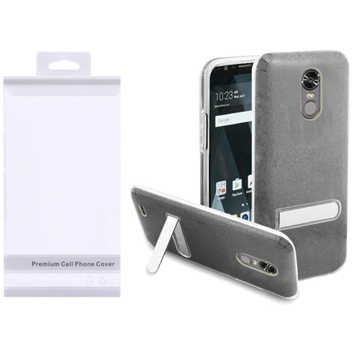 Insten Hard Plastic TPU Cover Case w/stand For LG Stylo 3/Stylo 3 Plus, Smoke