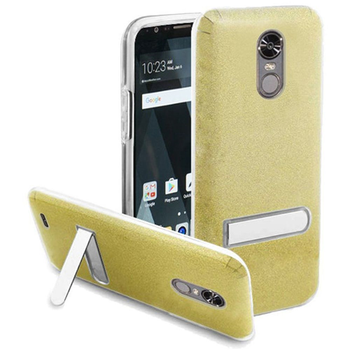 Insten Hard Plastic TPU Case w/stand For LG Stylo 3/Stylo 3 Plus, Gold