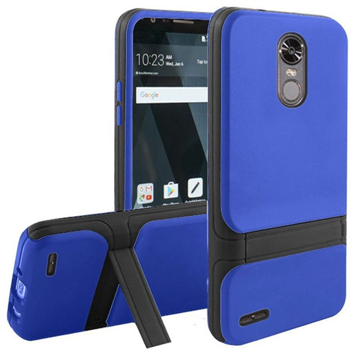 Insten Hard Hybrid Plastic TPU Cover Case w/stand For LG Stylo 3/Stylo 3 Plus, Blue/Black