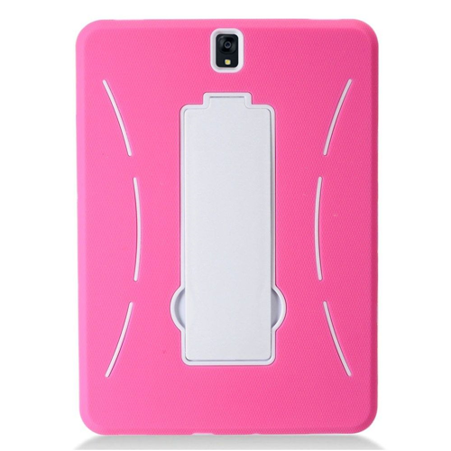 "Insten Symbiosis Gel Rubber Hard Case w/stand For Samsung Galaxy Tab S3 9.7"", Hot Pink/White"