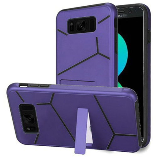 Insten Hard Hybrid Plastic TPU Cover Case w/stand For Samsung Galaxy S8 Plus, Purple/Black