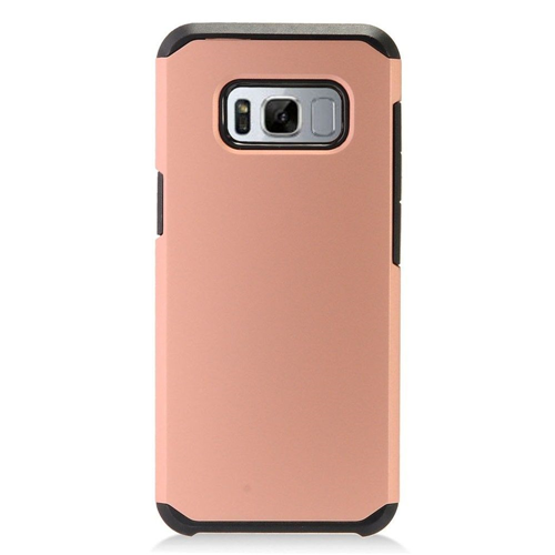 Insten Hard Dual Layer Plastic Cover Case For Samsung Galaxy S8 Plus, Rose Gold