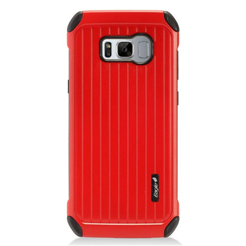 Insten Carry On Hard Dual Layer Plastic Cover Case For Samsung Galaxy S8, Red/Black