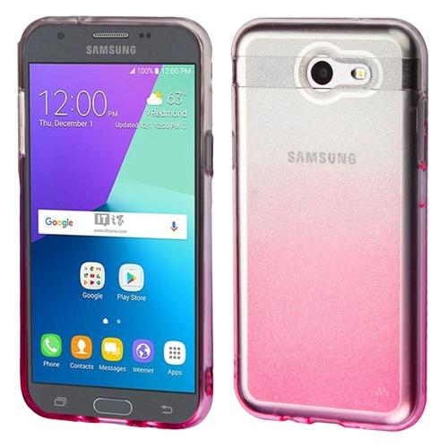 Insten Gradient Glitter TPU Case For Samsung Galaxy Amp Prime 2/J3 (2017)/J3 Emerge/J3 Prime, Pink
