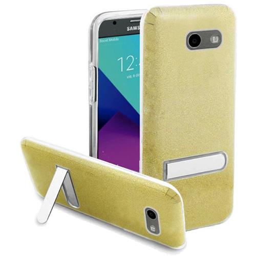 Insten Hard Case For Samsung Galaxy Amp Prime 2/Express Prime 2/J3 (2017)/J3 Eclipse, Gold