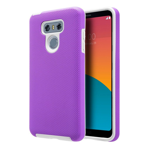Insten Hard Hybrid Plastic TPU Case For LG G6, Purple