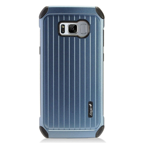 Insten Carry On Hard Hybrid Plastic Case For Samsung Galaxy S8 Plus, Blue/Black