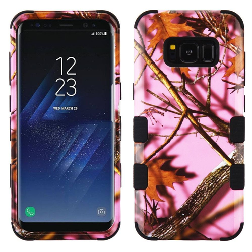 Insten Oak-Hunting Hard Dual Layer Plastic TPU Cover Case For Samsung Galaxy S8 Plus, Pink