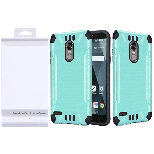 Insten Slim Armor Hard Dual Layer Brushed TPU Case For LG Stylo 3/Stylo 3 Plus, Teal/Black